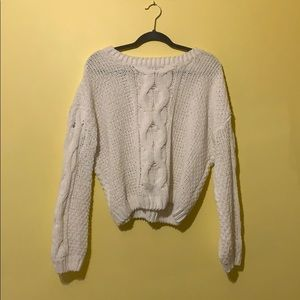 Super cute and comfy white sweater!!